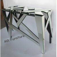 Quality Antique Mirrored Console Table Geometry Design 112 * 40 * 76cm Size for sale