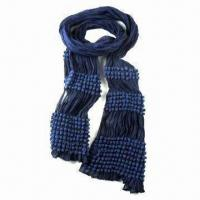 Ladies Stylish Scarf, Made of 97% Viscose and 3% Elastane Manufactures