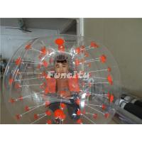 TPU / PVC Material Inflatable Bumper Ball , Face Out Inflatable Bubble Soccer Ball Manufactures