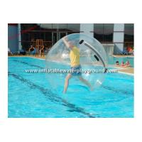 Transparent TPU / PVC Inflatable Water Walking Ball For Adults , Water Bubble Ball Manufactures