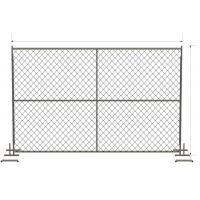 """6 foot x 12 foot chain link mesh temporary fencing panels with a 1 3/8"""" x 16GA and 2-3/8 inch temp fence Manufactures"""