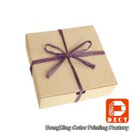 Quality Biodegradable Corrugated Cardboard Boxes , Delicate Ribbon Tie Chocolate for sale