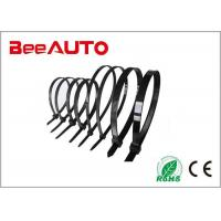 Black Large Electrical Cable Ties , Pvc Coated Stainless Steel Heat Resistant Zip Ties Manufactures