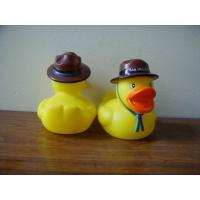 Quality Phthalates Free Personalised Rubber Duck With Hat / Geologist / Desert Driver Design for sale