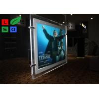 Cable Suspension LED Shop Display Graphic Size A3 A4 LED Light Pockets For Real Estate Store Manufactures