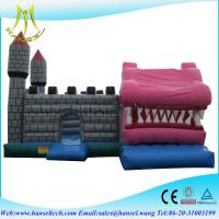 China Hansel Air Bouncer Inflatable Trampoline With Small Obstacles For Kids Playground on sale