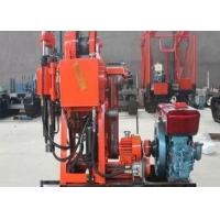 Small Water Well Borehole Drilling Rig GK-200 Color Customized With Hydraulic Feeding Manufactures
