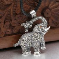 Elephant Silver Pendant, Customized Specifications Welcomed Manufactures