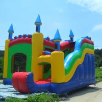 PVC Tarpaulin Durable Inflatable Jumping Castle Inflatable Amusement Park For Sale Manufactures