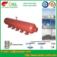 Hot Water Boiler Drum For Power Station , Dryer Drum High Heating Efficiency Manufactures