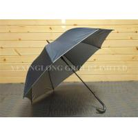 Strong Self Opening Curved Handle Umbrella With Logo Priting 190T Fabric Material Manufactures