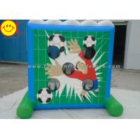 Funny Inflatable Sports Games / Inflatable Shooting Game Soccer Goal Shooting Goals Manufactures