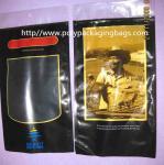 Six Cigar Plastic Bags / Cigar Ziplock Bags OPP PE Laminated Material Manufactures