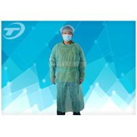 Knitted Wrist PP PE Disposable Scrub Suits Isolation Gowns Water Resistant Manufactures