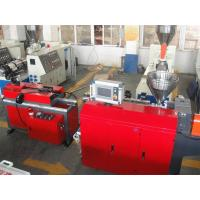 PP PE PA PVC Single Wall Corrugated Pipe Production Line / PVC Pipe Extruder Manufactures