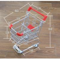 Q195 Low carbon steel Retail Shop Equipment Metal grocery shopping cart on wheels Manufactures