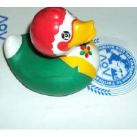 EN71 Promotional Green Weighted Rubber Ducks Gift For Race / Bath Time Manufactures