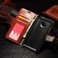 Quality PU Handmade Nokia Lumia Leather Case Flip Cover For Nokia 535 / 540 Anti - Slip for sale