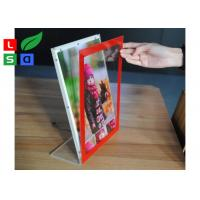 L Shape Ctystal Thin Light Box Acrylic Frame For Desktop Menu Sign Board Manufactures