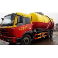 China brand Faw 6*4 18cbm vacuum trucks for sale, factory sale best price 14-18cbm FAW LHD sewage suction truck Manufactures