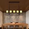 Buy cheap Candlestick Vintage Pendant Lights rectangle Black Color Chandelier Hanging Lamp from wholesalers