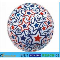 Light Up Inflatable Beach Balls,PVC 16 Inch Beach Ball With Lively Printing Manufactures