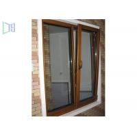 Quality Powder Coating Aluminium Tilt And Turn Windows Wood Color Anti Leakage Design for sale