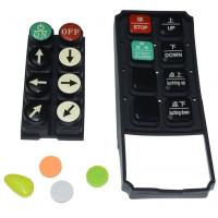Black Tv Remote Control Buttons , Carbon Pill Keypad With Spraying Coating PU Coating Manufactures