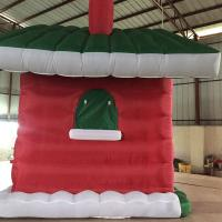 Red Mini Oxford  Inflatable Christmas House for Christmas  Decoration