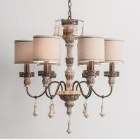 Buy cheap Wood and nickel chandelier with Lampshade for indoor home lighting (WH-CI-56) from wholesalers