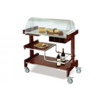 Red Banquet Buffet Dining Cart / 3 Shelves Room Service Trolley Table Top Manufactures