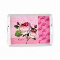 Melamine Serving Tray, Made of A1, Suitable for Promotional/Gifts, Customized Design Accepted Manufactures