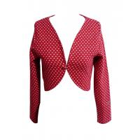 Chic Red Hearted Short Jackets sleeved waistcoat long sleeve ladies tops Manufactures