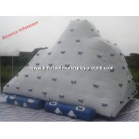 Quality White Large Inflatable Iceberg Rentals , 3.7mH Inflatable Water Mountain for sale