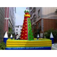 PVC Tarpaulin Inflatable Rock Climbing Wall With Excellent peeling Manufactures