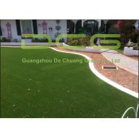 PE Curl Yarn Artificial Grass Garden / Fake Grass Squares 30mm Pile Height
