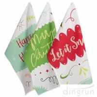 Christmas Holiday Dish Towels Kitchen Towels Hand Towels For Home Gift Manufactures