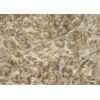 0.5 mm Mappa Burl Wood Veneer , Nardwood Thin Wood Veneer Sheets Manufactures
