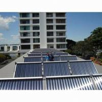 Solar water heater, solar collector on flat roof Manufactures