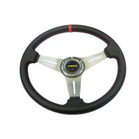 PU Material Race Car Steering Wheel Protect Hands From Over - Hot / Cold Manufactures