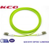 LC-LC Duplex Multimode Fiber Optic Patch Cord 0.35dB Insertion Loss With Different Length Manufactures