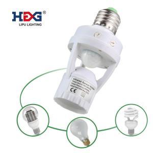 China Screw - Socket Photo Control Switch E27 15W-75W Motion Sensor Light Holder on sale