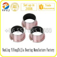 hot sale oilless bearing series Flanged plain bush ,DU bush black PTFE coated ,SF-1F0808 Manufactures