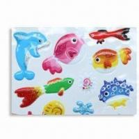 Puffy Stickers with Soft Transparent PVC, Available in Various Sizes Manufactures