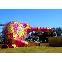 Big Commercial Pool Water Slides / Funnel Water Slide Customized Size Manufactures