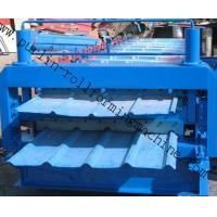 Steel Cold Double Layer Roll Forming Machine for Roof Tile , Metal Sheet , Wall Panel Manufactures