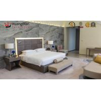 Five Stars Modern Hotel Bedroom Furniture Deluxe Hotel Fabric Upholstery Manufactures