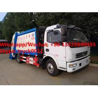 Factory customzied dongfeng LHD diesel 7m3 garbage compactor vehicle with rear overturning wastes hopper for sale, Manufactures