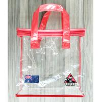Zippered Clear PVC Household Storage Bags Portable Transparent Shopping Bag With Handles Manufactures
