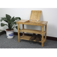 Knock Down 55cm Height 70cm Length Bamboo Shoe Shelf Manufactures